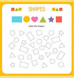 Coloring multiple shapes learn shapes and vector