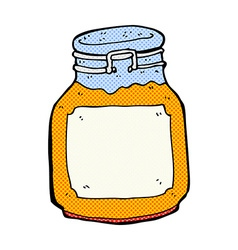 Comic cartoon marmalade preserve vector