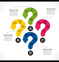 Creative question mark info-graphics concept vector