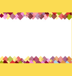 decorative border of colorful squares vector image