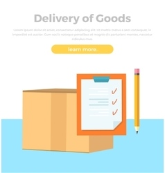 Delivery goods banner packing product design vector