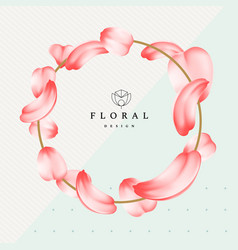 detailed tender petals roses or sakura with a vector image