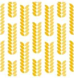 Ear of wheat seamless pattern vector