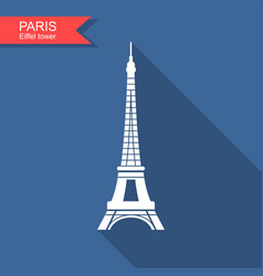 eiffel tower paris france travel paris icon vector image