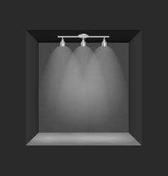 Exhibition concept black empty box frame vector