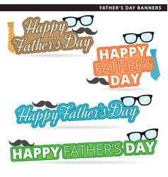 Fathers day banners vector
