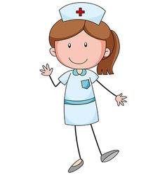 Female nurse with happy face vector