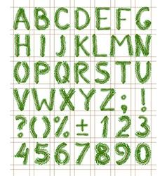 Fir tree green font vector