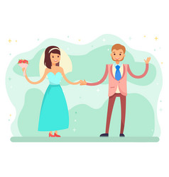 first dance bride and groom wedding party vector image