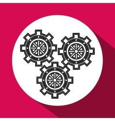 gear design cog icon white background vector image