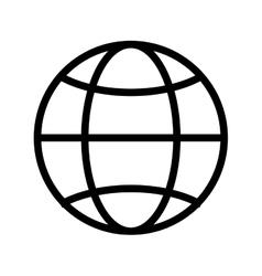 Globe diagram vector