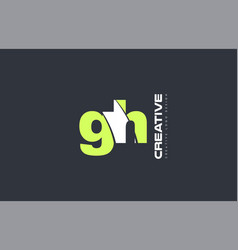 green letter gh g h combination logo icon company vector image
