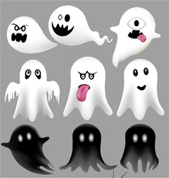 Halloween Flying Ghosts vector image