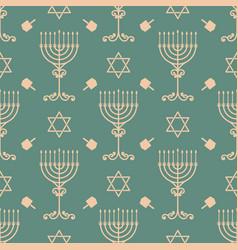 Hanukkah seamless pattern vector