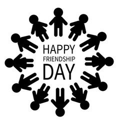 happy friendship day man and woman pictogram icon vector image