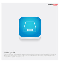 hard disk drive icon vector image