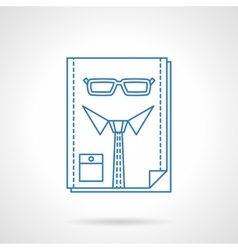 Headhunter blue flat line abstract icon vector