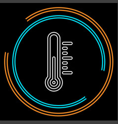heat thermometer icon - measurement vector image