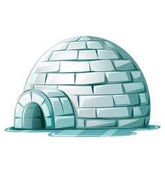 Igloo on icy ground vector image