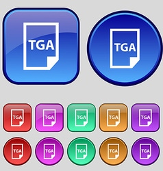 Image File type Format TGA icon sign A set of vector image