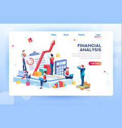 infographic of financial risk graph vector image