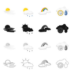 Isolated object of weather and climate sign vector