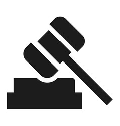 judge hammer icon simple style vector image