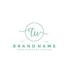 Letter tu feminine logo design vector