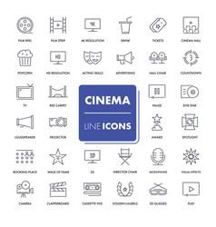 line icons set cinema vector image vector image