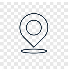 Location concept linear icon isolated on vector