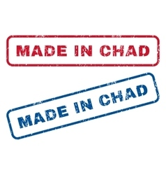 Made In Chad Rubber Stamps vector image