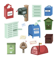 mail box post mailbox or postal mailing vector image