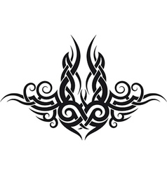 Maori tribal tattoo design vector image