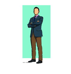 men standing business vector image