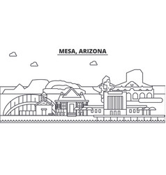 Mesa arizona architecture line skyline vector