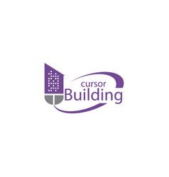 mouse building logo design vector image