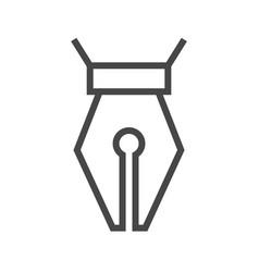 nib thin line icon vector image