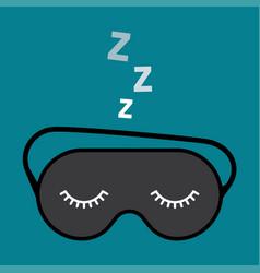 night accessory to sleep vector image