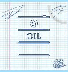 oil barrel line sketch icon isolated on white vector image