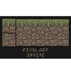 Pixel art texture stone dirt land vector