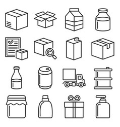 product release icons set on white background vector image