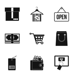 Purchase icons set simple style vector