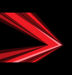 red arrow speed direction on black vector image