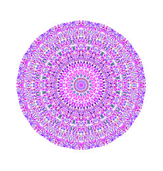 Round abstract geometrical colorful floral vector