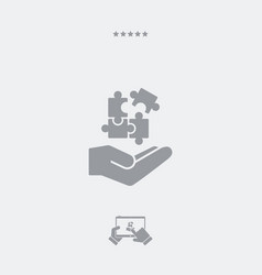 Service offer - strategic connection - minimal vector