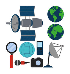 Set of journalism devices icons vector
