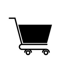 Shopping icon with isolated on a white vector