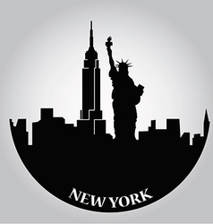 some black silhouettes buildings from new york vector image
