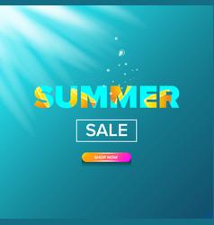summer sale modern design template web vector image