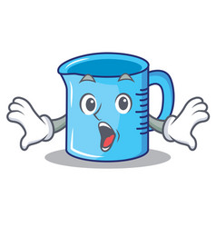 Suprised measuring cup character cartoon vector